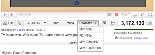 Download YouTube as mp4