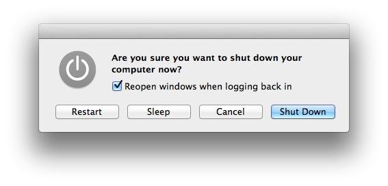 Mac Shut Down skjár