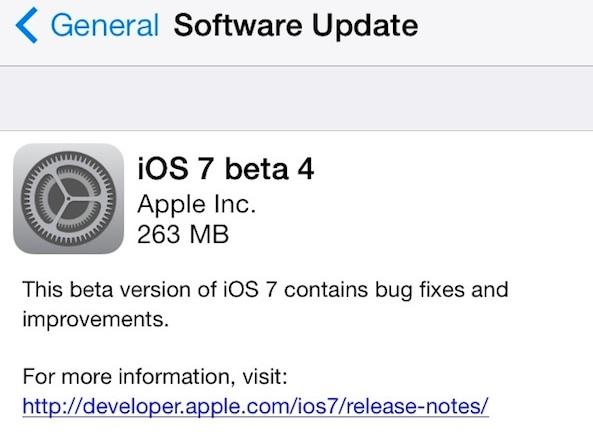 iOS 7 - Beta 4