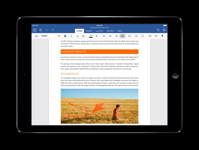 Microsoft Office komið á iPad | Einstein.is