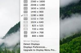 Display Menu - Mac