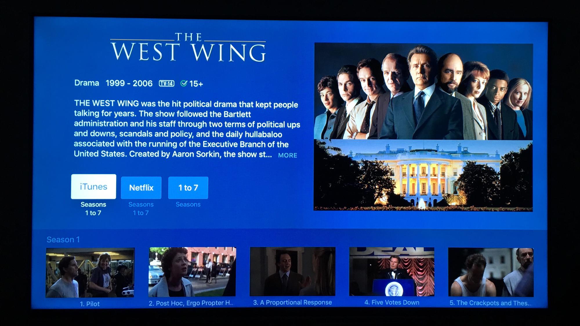 West Wing - Apple TV