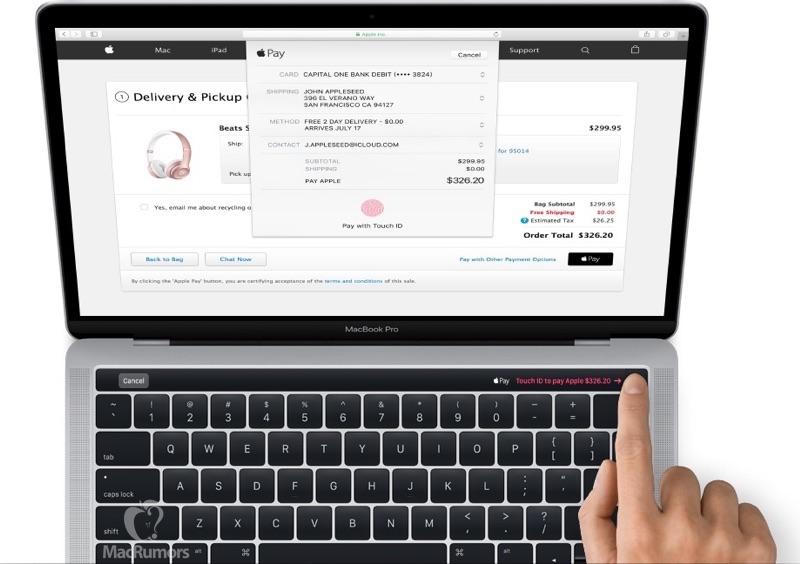 MacBook Pro með OLED snertirönd og TouchID fingrafaralesara