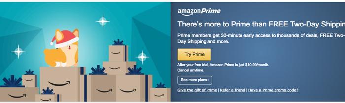 Amazon - Try Prime