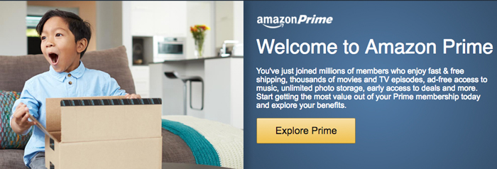 Amazon - Welcome to Prime