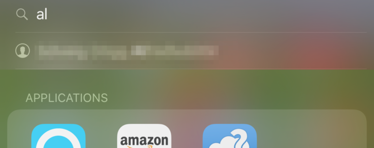 Spotlight leit - iOS 11